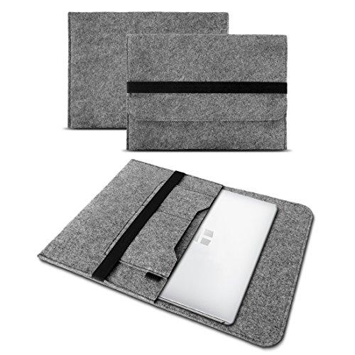 UC-Express Sleeve Hülle für Toshiba Tecra X40-D Tasche Filz Notebook Cover 14' Laptop Case, Farbe:Hell Grau
