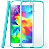 OneFlow Schutzhülle für Samsung Galaxy S5 Mini Hülle Silikon Case aus 1,5mm dünnem TPU | Zubehör Cover zum Handy Schutz | Handyhülle Bumper Tasche Durchsichtig Transparent in Türkis