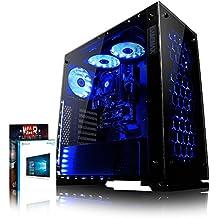 VIBOX Nebula GS530-25 Gaming PC - 3,5GHz Intel i5 Quad Core CPU, GPUGT730, Presupuesto, Ordenador de sobremesa para oficina Gaming vale de juego, con unidad central, Windows10, Iluminaciàninterna azul (3,0GHz (3,5GHz Turbo) SuperrápidoInteli5 7400Quad 4-CoreCPUprocesador de Kabylake, Tarjeta gráficadedicada de 2GBNvidia GeforceGT730GPU, 16 GB 2133MHzDDR4RAM, Unidad de estadosàlidoSSD de 240GB, Discoduro2TB, 85+ PSU400W, Gamemax Caja)