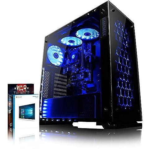 VIBOX Nebula RLR780-25 Gaming PC - 3,8GHz AMD Ryzen 8-Core CPU, RX-580 GPU, VR Ready, Hochleistung, leistungsstärker, Spec, Desktop Gamer Computer mit Spielgutschein, Windows 10, Blau Innenbeleuchtung, lebenslange Garantie* (3,4GHz (3,8GHz Turbo) AMD Ryzen 7-1700X Octa 8-Core Prozessor CPU, AMD Radeon RX 580 4GB Grafikkarte, 16GB DDR4 2133MHz RAM, superschnelle 240GB SSD, 2TB (2000GB) SATA III 7200rpm Festplatte, Aerocool 600W 85+ Netzteil, Gamemax Onyx Gehäuse, AM4 A320 Mainboard, Blau Fan)