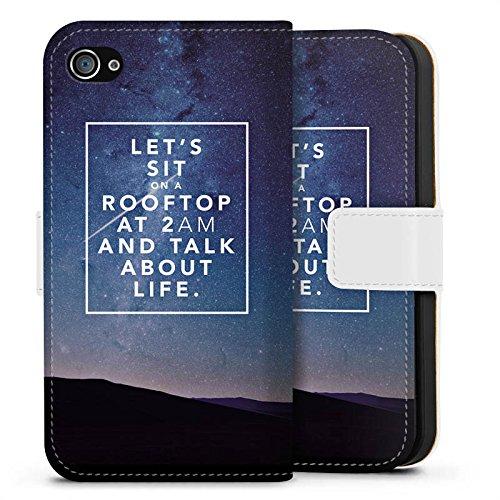 Apple iPhone X Silikon Hülle Case Schutzhülle Freundschaft Liebe Leben Sideflip Tasche weiß