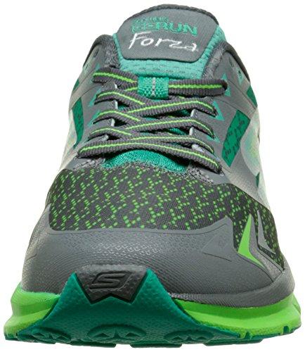 Skechers GO Run Forza, Chaussures de course homme Gris (Gris/Vert)