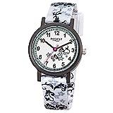 Regent Kinder-Armbanduhr Elegant Analog Textil-Armband weiß Quarz-Uhr Ziffernblatt weiß URF728
