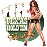 """Michael Landefeld - Texas Hold 'em Pinup PIN-UP autocollant Sticker - 3.75"""" x 4.75"""" - Weather Resistant, Long Lasting for Any Surface"""