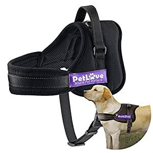 Pet Love Dog Harness, Soft Leash Padded No Pull Dog Harness with All Kinds of Size (Medium, Black)