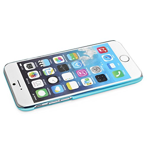 iProtect Schutzhülle Apple iPhone 6, 6s (4,7'') Hülle Totenkopf Skull Star Design in schwarz Blau Hund