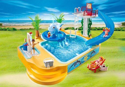 Playmobil vacaciones piscina de los ni os con fuente de ballena - Playmobil piscina ballena ...