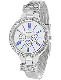 Rabela Women's Analogue White Dial Watch RAB-821