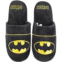 Hombre Magnífico Batman Negro Textil Fleece Caliente Zapatillas Bota EU 44 4fcBkLzr