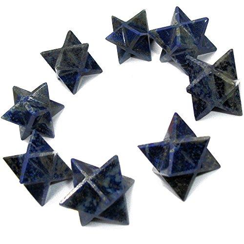 Edelstein Krystall Merkaba Sterne für Kristall-Heilung und Reiki (Lapislazuli)