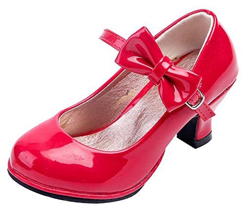 Bevalsa Mädchen Bowknot Schule Mary Jane Prinzessin Hochzeit Party Schuhe Kinder Ballett Stöckelschuhe Halbschuhe Casual Hochzeit Ballerinas