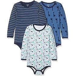 Care Baby - Jungen Langarm-Body im 3er Pack, Mehrfarbig (Dunkel Blau 772), 9 Monate (Herstellergröße: 74 )