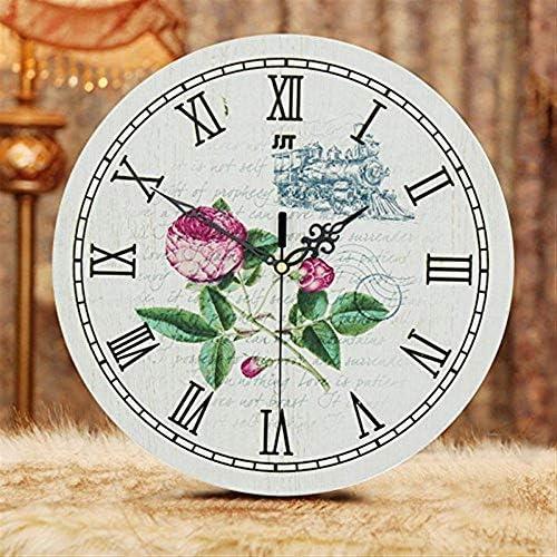 DollylaStore Horloges Horloges Horloges murales Style européen Salon créatif Silencieux en Bois Mode Moderne Quartz Jardin méditerranéen Rétro Horloge V ( Color : V )   Les Produits De Base Sont  fafd8f