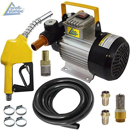 POMPA TRAVASO GASOLIO - POMPA GASOLIO 230V STANDARD-4 pompa estrazione gasolio - pompa trasferimento - pompa per travaso - kit pompa aspira completo (POMPA CON PISTOLA AUTOMATICA E TUBO IN GOMMA)