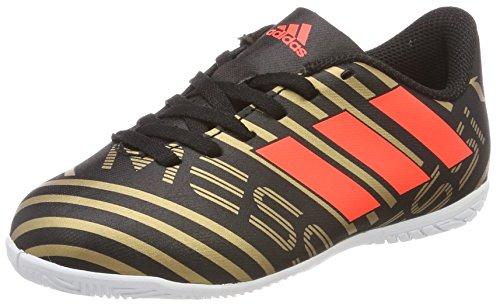 Adidas Nemeziz Messi Tango 17.4 in J, Zapatillas de Fútbol Sala Unisex Niño, Negro (Negbas/Rojsol/Ormetr 000), 28 EU
