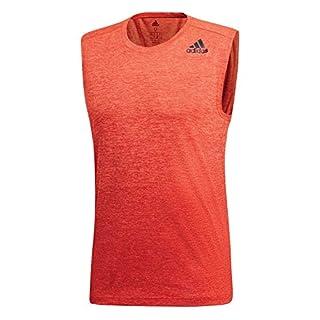 adidas Herren Shirt Gradient Melange Sleeveless hi-Res orange s18/raw Amber XS