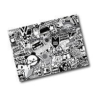 Black and White Sticker Bomb A4 Wrap Sticker Decal