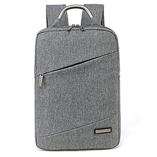 Acxeon 15,6 Zoll Universal leichter Business Notebooktasche Rucksack mit Laptopfach /Akteneinteilung / Zubehörfächer Aktentasche für den Menschen (Grau)