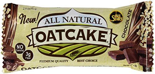 All Stars All Natural Oatcake Bar, Chocolate, 24er Pack (24 x 80 g) - 5