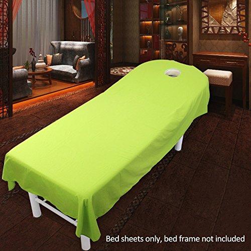 Kosmetik Salon Bed Sheet Cover Spa Massage Bett Tisch Bezug Blatt mit Loch (9Farben) 120cmx190cm #6 -