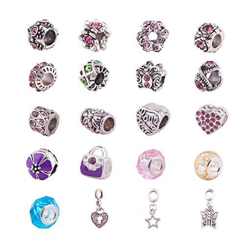 pandahall-elite-lot-de-20pcs-sac-sets-europeennes-de-perles-en-alliage-strass-email-et-verre-avec-gr