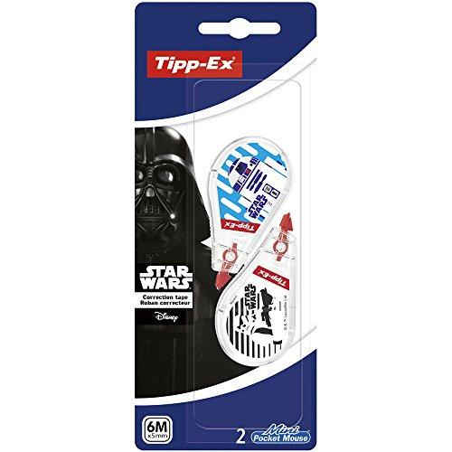 Tipp-Ex 945800 Star Wars Mini Pocket Mouse Korrekturroller, 6 m x 5 mm, 2 Stück, weiß