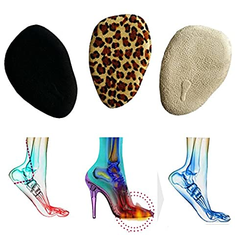 Toechmo Ball of Foot Cushions - Plantar Fasciitis Pain Relief Kit Metatarsal Pads, Gel Helps Cushion, Support Hammer Claw Mallet Toes, Arch Pain, Neumeria Pads High Heels Relieve Forefoot Pain
