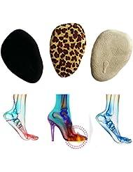 toechmo suave plantilla plantillas de gel para tacones, zapatos para mujer inserciones de proporciona alivio de dolor en el talón, cómodo talón, fascitis Plantar talón, Espolones, 3/4de alta talón alivio del dolor plantillas zapato Pads, Ball Of Foot Cushions(3pairs)