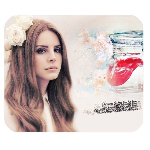 Preisvergleich Produktbild Office Mouse Pad,220mm*180mm*3mm Customized Standard Non-slip Rectangle Mouse Pad Lana Del Rey,Mauspad