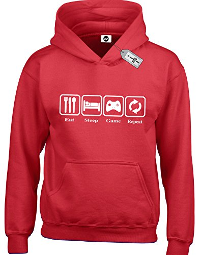 Eat Sleep Game Repeat Kids Children/Girls Hoodies. Free delivery included.