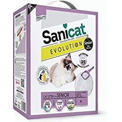 Sanicat litiere Evolution Senior 6l - pour Chat Senior,