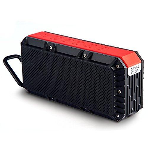 Tragbarer Bluetooth 4.0 Lautsprecher, Travel Inspira Drahtloser Lautsprecher mit Dual-Treiber, IPX6 Wasserfest, 15 St Spielzeit, Eingebauten Mikrofon für iPhone und Android Geräte (Außenbereich Für Drahtlose Lautsprecher Den)