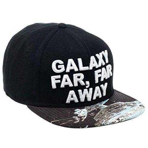 Star Wars Offizielle Galaxie Weit, Weit Weg Sublimierte Bill Black Snapback Baseballkappe Hut