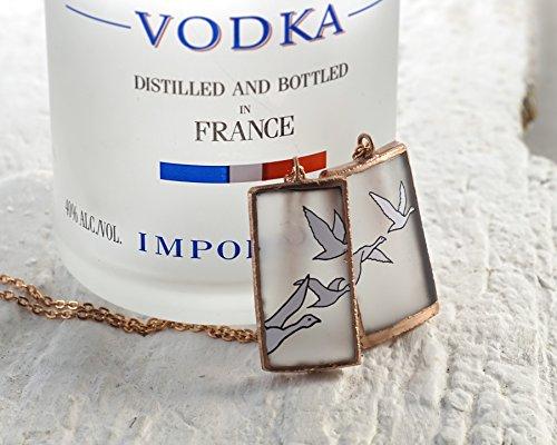 flying-geese-vodka-pendant-copper-framed-recycled-grey-goose-vodka-bottle
