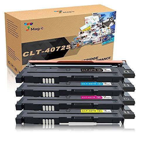 Samsung CLT-4072S kompatibel für 7Magic Tonerkartusche CLT-4072S K4072S C4072S M4072S Y4072S kompatibel für Samsung CLP-320 CLP-325 CLX-3180 CLX-3185 Drucker (1 Schwarz/1 Cyan/1 Magenta/1 Gelb)