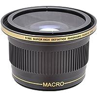 Power^UP .38x (58mm 52mm) obiettivo Fisheye grandangolare Macro Convertitore per Nikon D3000, D3100, D3200, D3300, D5000, D5100, D5200, D5300, D5500, D7000, D7100, D7200, DF, D3, D3S, D3X, D4, D40, D40x, D50, D60, D70, D70s, D80, D90, D100, D200, D300, D600, D610, D700, D750, D800, D800E, D810 Fotocamera Reflex digitale - Più Power Filter