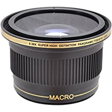 Power^UP .38x (58mm 52mm) obiettivo Fisheye grandangolare Macro Convertitore per Canon EOS 1D, 5D, 5DS, 5DS R, 6D, 7D, 10D, 20D, 30D, 40D, 50D, 60D, 70D, 100D, 300D, 350D, 400D, 450D, 500D, 550D, 600D, 650D, 700D, 750D, 760D, 1000D, 1100D, 1200D Fotocamera Reflex digitale - Più Power Filter