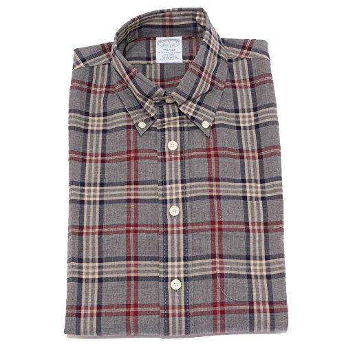 Brooks brothers 5445u camicia uomo non iron shirt men [m]