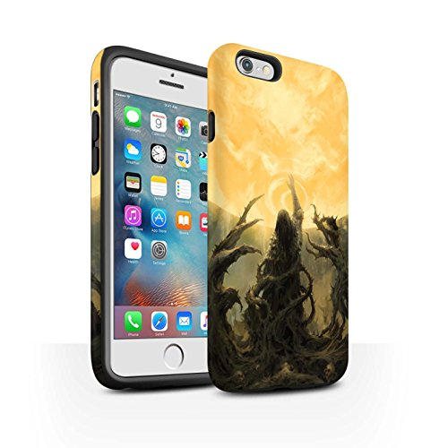 Offiziell Chris Cold Hülle / Matte Harten Stoßfest Case für Apple iPhone 6S+/Plus / Hades/Phantom Muster / Unterwelt Kollektion Sonnengott/Reben