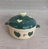 kleiner runder Brottopf mit Griffen aus Keramik in emilly