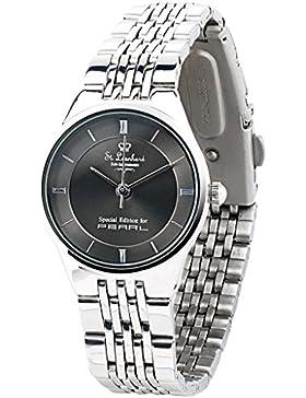 St. Leonhard Damen-Armbanduhr aus Edelstahl