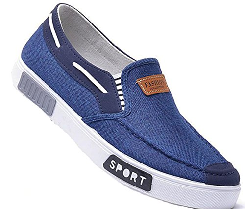 Ein bißchen Herren mode casual Atmungsaktive Mokassins Slipper Mokassins Atmungsaktive Blau ... 6cd299