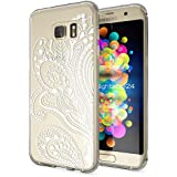 Samsung Galaxy S7 Edge Coque Protection de NICA, Housse Motif Silicone Portable Premium Case Cover Transparente, Ultra-Fine Souple Gel Slim Bumper Etui pour S7-Edge, Designs:Artificial Flowers