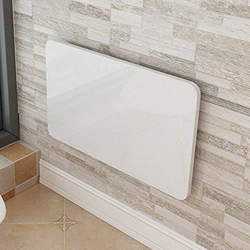 WJS Wandtisch, Küche Wand montiert Drop Leaf Folding Esstisch Computer Schreibtisch für kleine Raum (weiß) (größe : 80 * 50cm) (Kleine Esstisch Räume Für)
