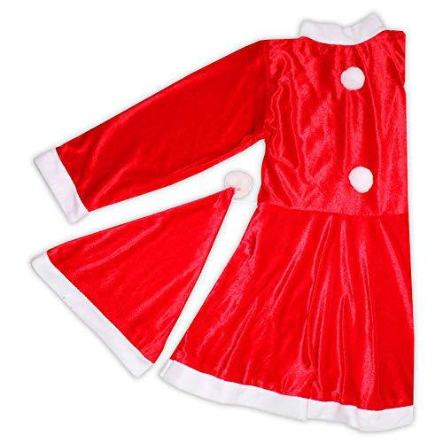 Disfraz Niña Mamá Noel Navidad 7-9 Años (Mama Noel Kostüm)