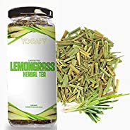 YOGAFY - Organic Lemongrass Herbal Tea Leaves I Boost Metabolism Used for Detox |100g - 100 Cups | 50g Pack of