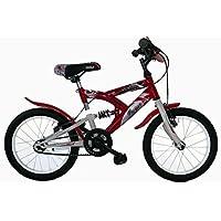 "Frejus SUSPENSIÓN Trasera 16"" - Bicicleta de montaña susp/Tras. para Unisex, 1 velocidades, Cuadro Acero, Rojo"