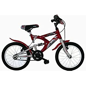 51qwzTZzCAL. SS300 FREJUS Sospensione Posteriore 16–Bicicletta da MTB Susp/tras. per Unisex, 1velocità, Quadro Acciaio, Rosso