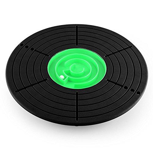 Klarfit Balance Board rutschsicheres Wackelbrett mit Labyrinth (bis 100kg, 33,3cm Ø, Hartplastik) schwarz weiß (Balance-halbkugel übung)