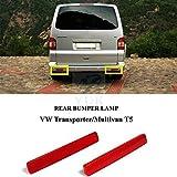 Yuk parachoques trasero marcador reflectante reflector lámpara de luz para VW Transporter T5MK V 03–09
